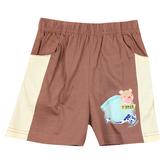 【愛的世界】純棉鬆緊帶口袋短褲-咖啡/1歲-台灣製-  --春夏下著 夏出清
