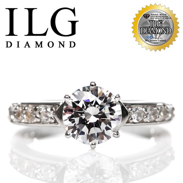 【頂級美國ILG鑽】八心八箭戒指-1克拉捷克樂曲 求婚婚戒完美首選 珠寶鑲工非黏鑽 RI098