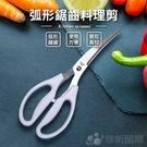 【珍昕】弧形鋸齒料理剪(長約21.3cmx寬約8cmx高約1.2cm)食物剪刀/料理剪刀/廚房剪刀