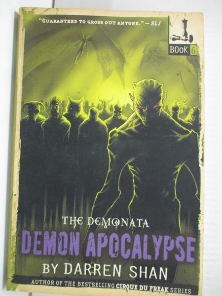 【書寶二手書T3/原文小說_G1B】Demon Apocalypse_Shan, Darren