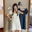 新款網紅甜美可愛日系薄款睡裙女夏季冰絲睡衣女性感家居服仙 夏季新品