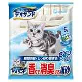 【日本Unicharm】消臭大師 瞬間消臭紙砂-沐浴香(5L x 6入)