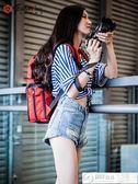 攝影包 銳瑪數碼相機包攝影包單反雙肩包休閒背包便攜佳能尼康索尼微單包 居優佳品igo