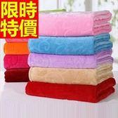 毛毯子冬款個性-法蘭絨太陽花純色簡約加厚小毯被7色64d16[時尚巴黎]