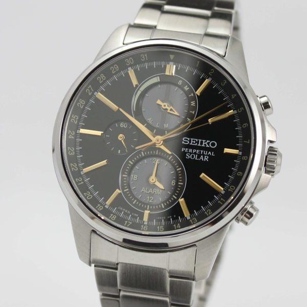 [萬年鐘錶]  SEIKO SPIRIT 太陽能 萬年曆多功能計時腕錶 V198-0AC0K (SBPJ007J)