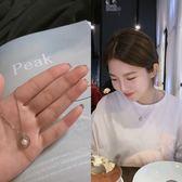 日韓簡約圓圈母貝珍珠短項鍊鎖骨鍊氣質配飾