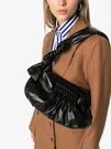 ■專櫃55折■ 全新真品■Miu Miu Knots Nappa 軟羊皮肩背手拿2用包 黑色