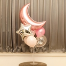 生日派對氣球透明桌飄立柱支架寶寶周歲布置婚房裝飾【聚可愛】