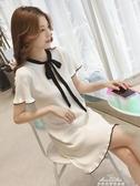 現貨五折 洋裝針織洋裝 女裝 蝴蝶結荷葉袖 氣質顯瘦pphome裙子女  11-8