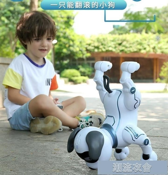 遙控玩具-智慧機器狗遙控動物走路機器人男女孩會走倒立電動兒童玩具3狗狗5 【快速出貨】