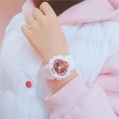 手錶數字式電子錶女生學生潮流正韓簡約防水學院風WY