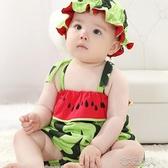 嬰兒夏裝造型衣寶寶吊帶連體衣男女兒童純棉百天拍照小孩衣服夏季 布衣潮人