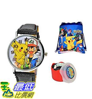 [8美國直購] 手錶 Unisex Quartz Analog Wrist Watch .Fashion Large Modern Display. Ash & Pikachu