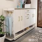 鞋櫃 中式入戶鞋櫃實木家用大容量門口外面過道樓梯玄關櫃門廳櫃帶凳 MKS韓菲兒