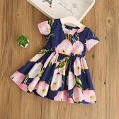 夏季女童短袖連身裙公主裙全棉女孩連身裙