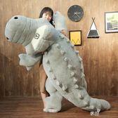 鱷魚公仔毛絨玩具床上抱枕布娃娃超大號玩偶睡覺長條枕頭可愛女孩ATF  享購