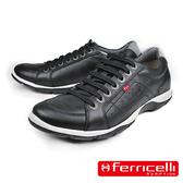 【ferricelli】薩爾托Azera經典牛皮減震休閒鞋  黑色(F42490-BLG)