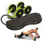 回彈健腹輪 家用腹肌輪健身輪滾輪靜音拉力繩 多功能健腹器減肥