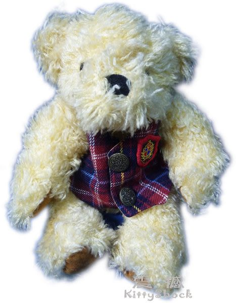 【震撼精品百貨】Teddy Bear 泰迪熊~絨毛娃娃玩偶『格子英倫風』