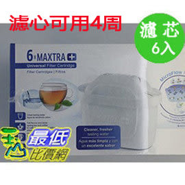 [春節特賣檔期 4周用濾心] 【BRITA公司貨】 BRITA MAXTRA PLUS 濾芯 6入 (和原來Maxtra 濾心相容)