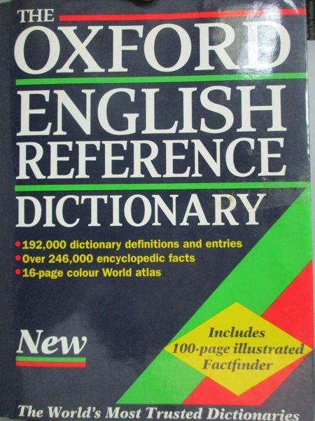 【書寶二手書T9/字典_WDL】The Oxford English Reference Dictionary_edit