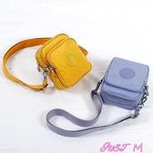 迷你包手機包女斜背迷你小包包零錢包放手機袋子鑰匙包牛津帆布散步小包 JUST M