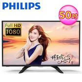【Philips 飛利浦】50型 FHD 聯網顯示器+視訊盒 50PFH4052 (含運無安裝)