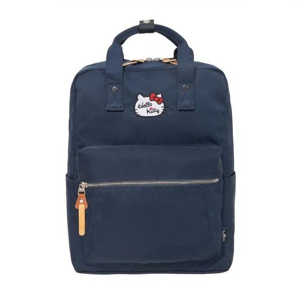 【Hello Kitty】凱蒂學院-方型後背包- 深藍 FPKT0F001NY