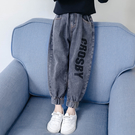 女童褲子秋款2019新款秋冬裝韓版外穿寬鬆長褲兒童牛仔褲洋氣