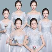 伴娘服2018新款灰色夏短款韓版姐妹團顯瘦修身畢業晚禮服連衣裙女  無糖工作室