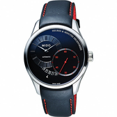 MIDO 美度 Belluna II Gent 時分偏心機械錶-黑/39mm M0244441605100