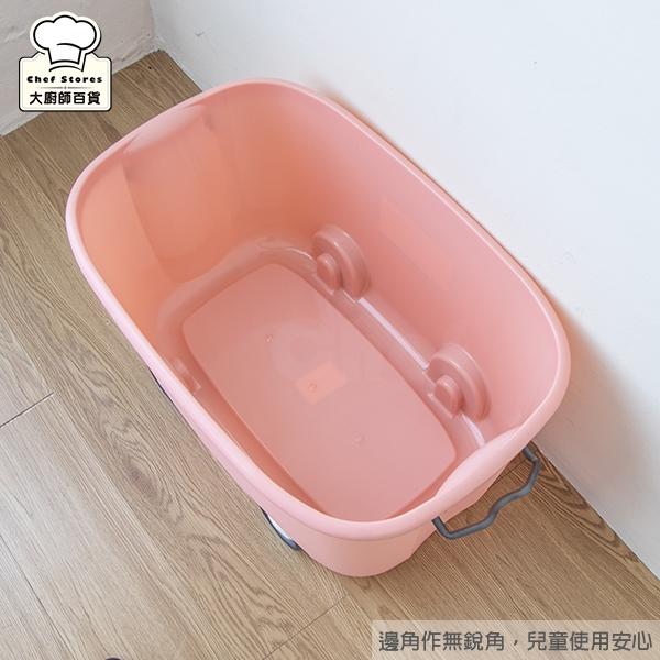 聯府大寶滑輪整理箱45L兒童玩具收納箱分類箱-大廚師百貨