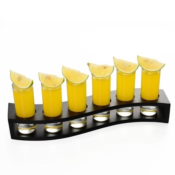 杯架木子彈杯架 白酒杯吞杯雞尾酒杯架烈酒杯一口杯木質架【步行者戶外生活館】