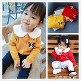 毛衣 外搭毛衣 女童外套女寶寶針織開衫 嬰兒毛衣外套純棉 伊鞋本鋪