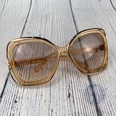 BRAND楓月 CHLOE CE625S 淡橘色 透視感 邊框墨鏡 太陽眼鏡 配件