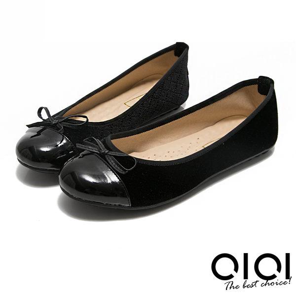 娃娃鞋 MIT小蝴蝶拼接菱格紋豆豆娃娃鞋(黑)*0101shoes【18-621bk】【現+預】
