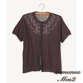 「Hot item」花朵刺繡開襟罩衫外套 (提醒 SM2僅單一尺寸) - Sm2
