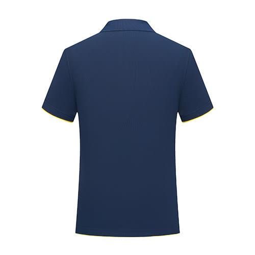 夏季短袖翻領深藍色廣告衫訂做印logo 純棉polo衫工作服T恤【96308-72】【7色S~3XL】*86精品女人國*