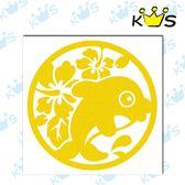 【反光貼紙】海豚 # 壁貼 防水貼紙 汽機車貼紙 10.3cm x 10.3cm
