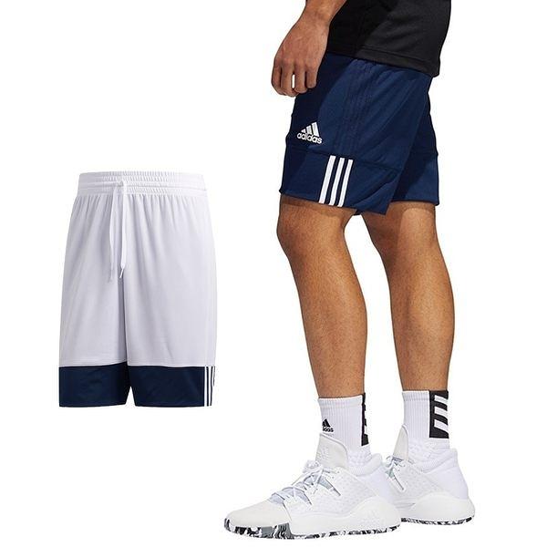 Adidas 3G Speed 男 深藍 白 短褲 籃球褲 雙面穿 籃球褲 球褲 透氣 短褲 刺繡 運動褲 DY6602