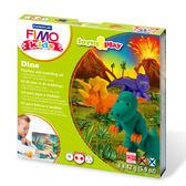 施德樓FIMO無毒烤箱軟陶MS8034-07LZ KIDS系列套組【樂遊習作】-小恐龍 LV.2級