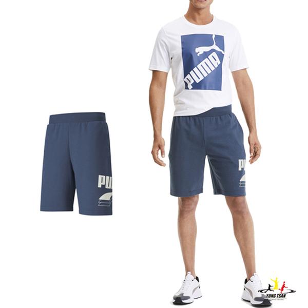 Puma Rebel 男 藍色 短褲 運動褲 棉質 運動 休閒 基本系列 9吋短褲 58277143