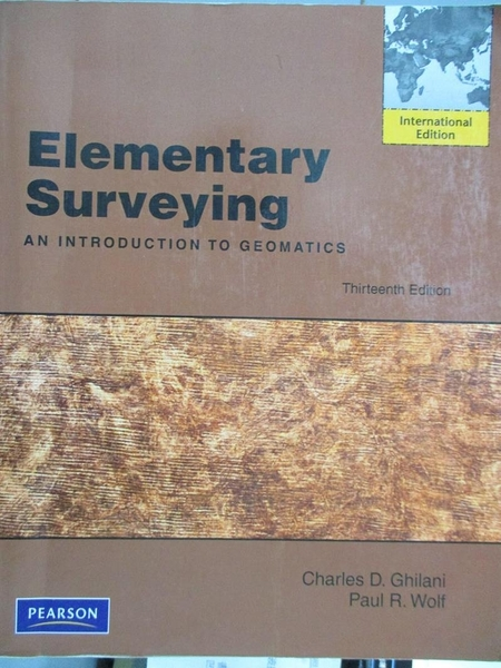 【書寶二手書T2/設計_HMX】Elementary Surveying: International Edition_