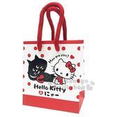 〔小禮堂〕Hello Kitty x NYA 迷你手提紙袋《紅白.愛心》包裝袋.送禮紙袋 4714581-55189