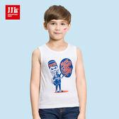 JJLKIDS 男童 搖滾紐約純棉背心(白色)