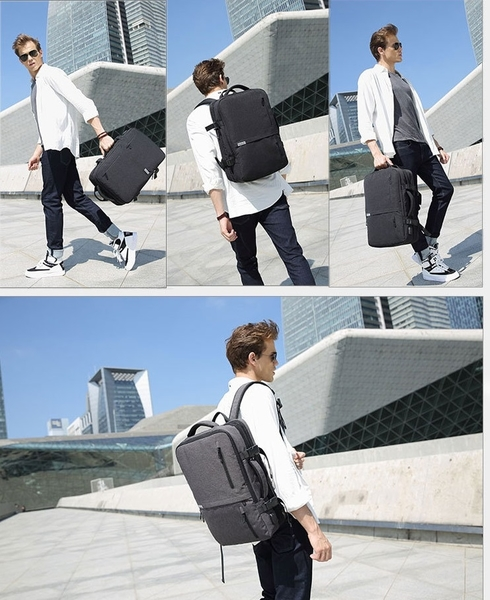 KGH168 多功能可擴充旅行背包 韓版男牛津布拉鍊商務背包 後背包 R4138