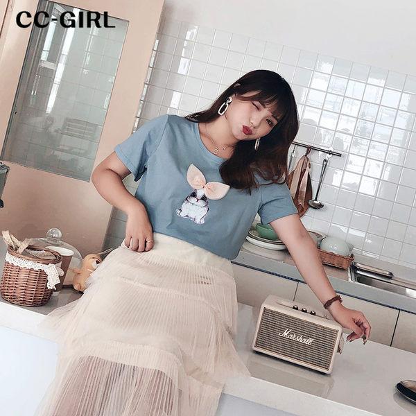 中大尺碼 可愛兔子棉T恤上衣~共兩色 - 適XL~5L《 68261 》CC-GIRL