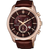 新年限定 CITIZEN 星辰 光動能萬年曆手錶-酒紅x玫瑰金框/43mm BL5548-19X