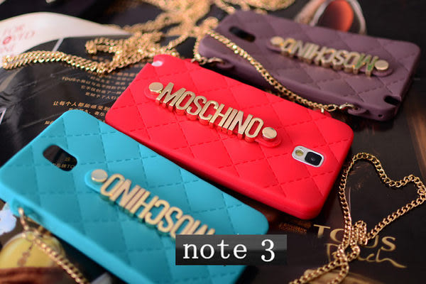note3免運 Moschino米蘭包三星note3 Note2 N7100 S3 S4 iphone5/5S 4/4S保護套(任選二個$900)
