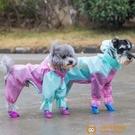狗狗雨衣全包泰迪四腳防水比熊博美網紅小型幼犬雪納瑞寵物衣服【小獅子】